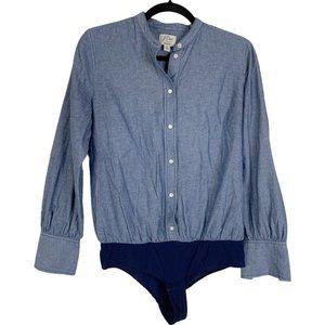 J. Crew Chambray Shirt Button Up Bodysuit